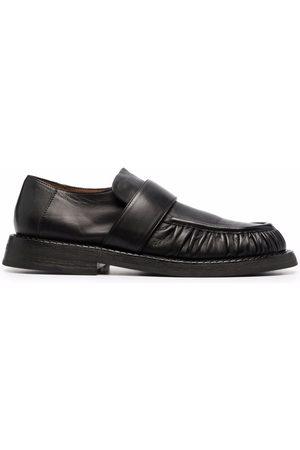 MARSÈLL Ruched leather loafers
