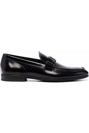 Tod's Almond-toe patent loafers