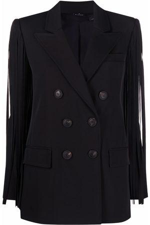 Pinko Damen Blazer & Sakkos - Fringed double-breasted blazer