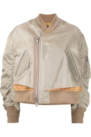 UNDERCOVER Layered padded bomber jacket