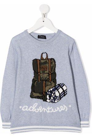 MONNALISA Adventures-intarsia cotton jumper