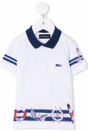 MONNALISA Poloshirts - Striped cotton polo shirt