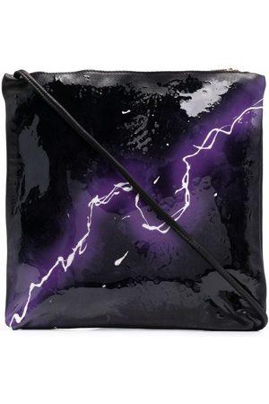 GUIDI Thunder-print shoulder bag