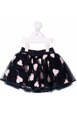 MONNALISA Baby Röcke - Embroidered heart tulle skirt
