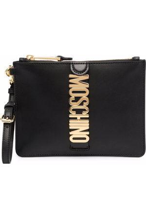 Moschino Damen Clutches - Logo-plaque clutch bag