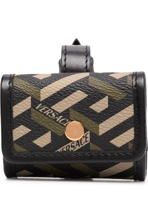 VERSACE Greca-print buckle-fastening wallet