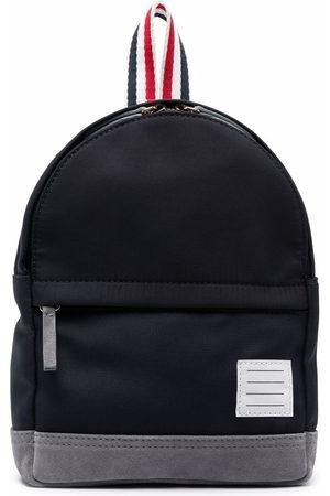 Thom Browne Small stripe-print backpack