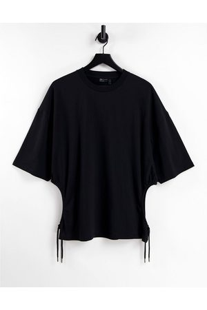 ASOS Oversized t-shirt with side cut outs in black