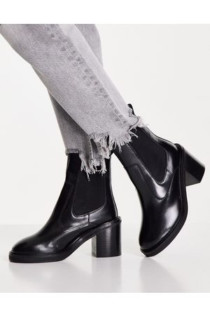 ASOS Runaway leather chelsea boots in black