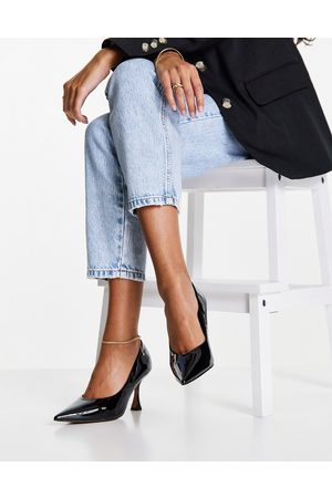 ASOS Scout mid heeled court shoes in black