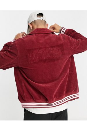 ASOS ASOS Actual cord harrington jacket with embossed back placement in red