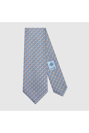 Gucci Herren Krawatten - Krawatte aus Seidenjacquard mit Blumen und GG