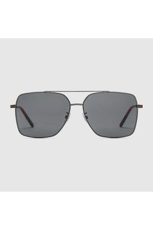 Gucci Herren Sonnenbrillen - Sonnenbrille mit tief sitzendem Nasensteg