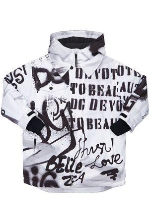 Dolce & Gabbana Damen Winterjacken - Gefütterte Skijacke Aus Nylon Mit Kapuze