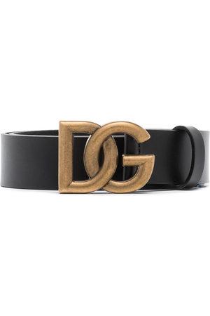 Dolce & Gabbana Herren Gürtel - DG INTRLCK LOGO BUCKLE 35 BELT BLACK