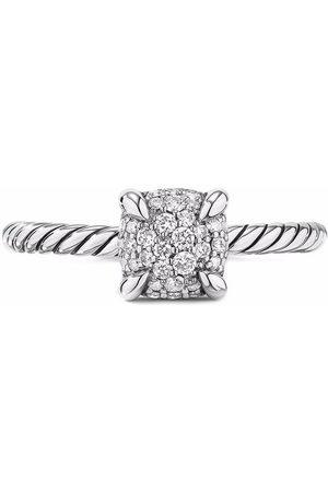David Yurman Sterling silver petite Châtelaine pave diamond ring