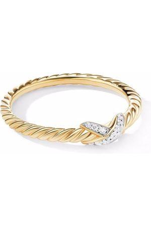 David Yurman Damen Ringe - 18kt yellow Petit X diamond ring
