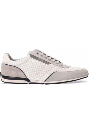 HUGO BOSS Mesh-panel low top sneakers