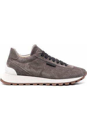 Brunello Cucinelli Damen Schnürschuhe - Suede lace-up sneakers