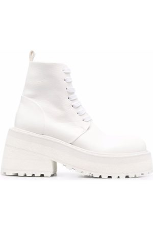 MARSÈLL Damen Schnürstiefel - Lace-up platform-sole leather boots
