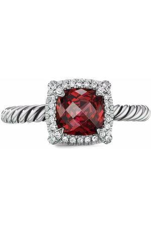 David Yurman Damen Ringe - Sterling silver Châtelaine rhodolite and diamond ring