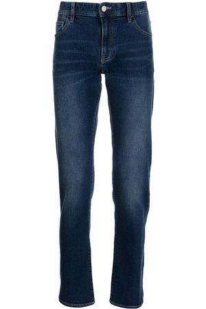 Armani Logo patch straight-leg jeans