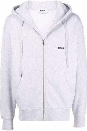 Msgm Herren Sweatshirts - Logo-print drawstring hoodie