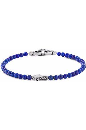 David Yurman 4mm cross station bead bracelet
