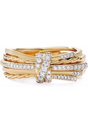 David Yurman 18kt yellow Angelica linear diamond ring