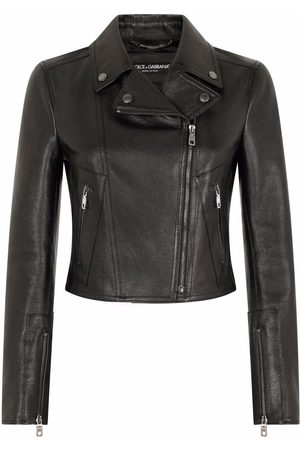 Dolce & Gabbana Damen Lederjacken - Zip-fastening leather jacket