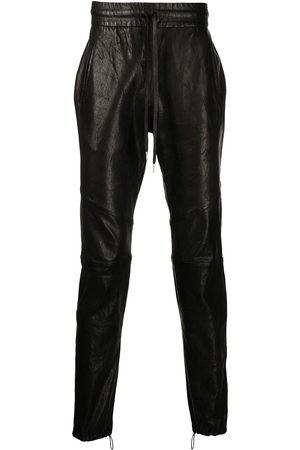 JOHN ELLIOTT Herren Leder & Lederimitathosen - Drawstring leather trousers
