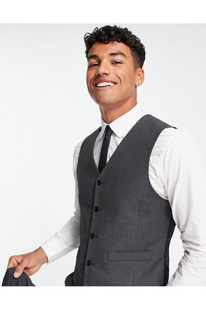 ASOS Slim waistcoat in charcoal-Grey