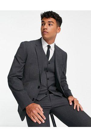 ASOS Slim suit jacket in charcoal-Grey