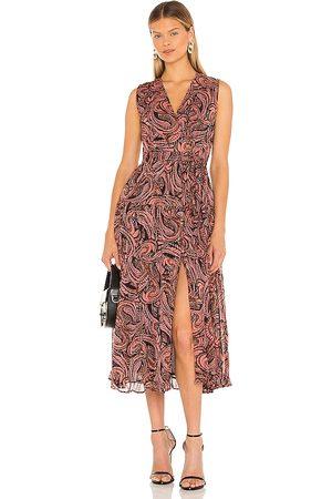 Karina Grimaldi Damen Bedruckte Kleider - Fannie Print Dress in - Rose. Size L (also in XS, S, M).