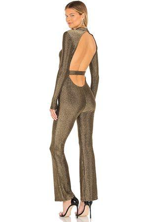 superdown Damen Jumpsuits - Nissa Open Back Jumpsuit in - Gold. Size L (also in XXS, XS, S, M, XL).