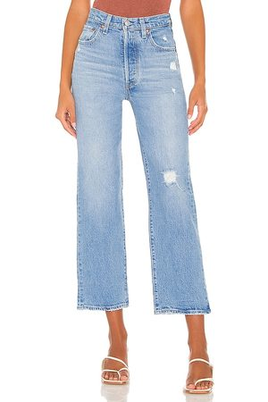 Levi's Ribcage Straight Ankle Jean in - Blue. Size 24 (also in 25, 26, 27, 28, 29, 30, 31, 32).