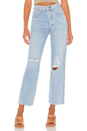 Levi's X REVOLVE Ribcage Straight Ankle in - Blue. Size 24 (also in 25, 26, 27, 28, 29, 30, 31, 32).