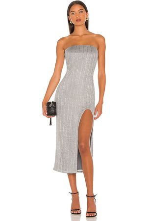 NBD Damen Midikleider - Joli Strapless Midi Dress in - Grey. Size L (also in XXS, XS, S, M, XL).