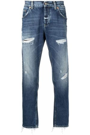 Dondup Herren Straight - Pre-owned distressed straight-leg jeans