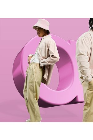 ASOS Herren Chinos - Drop crotch trousers in lightweight in -Neutral