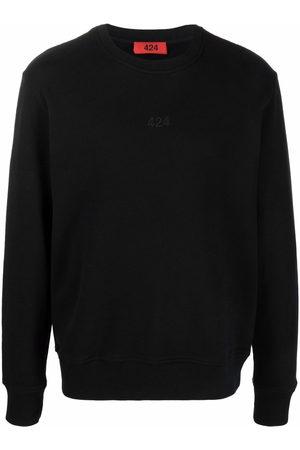 424 Herren Sweatshirts - Logo-embroidered cotton sweatshirt