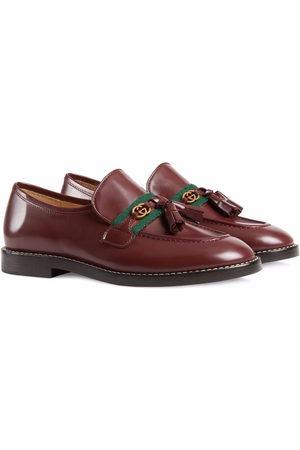 Gucci Mädchen Halbschuhe - Web-trim leather loafers