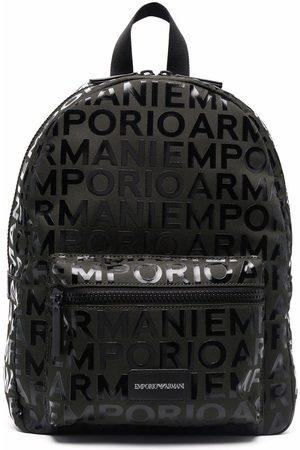 Emporio Armani Monogram logo backpack