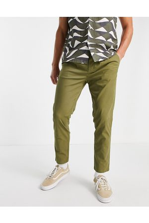 ASOS Cigarette fit chinos in khaki-Green