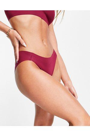 Sloggi Body Adapt seamless high leg brief in dark wine-Red