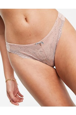 Gossard Superboost lace thong in ballet pink