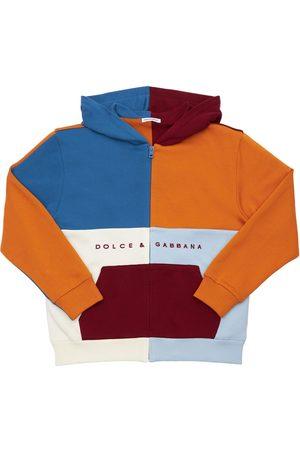 Dolce & Gabbana Herren Sweatshirts - Kapuzensweatshirt Aus Baumwolle Mit Stickerei