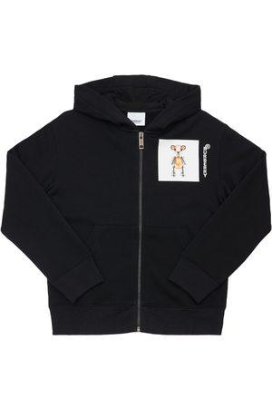 Burberry Sweatshirt Aus Baumwolle Mit Kapuze Und Druck