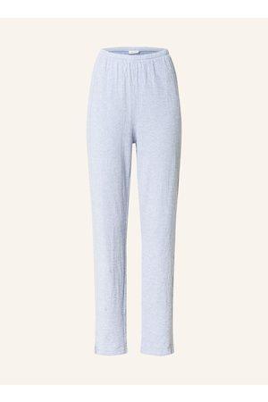 American Vintage Damen Lange Hosen - Hose Im Jogging-Stil blau