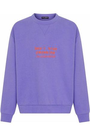 Dolce & Gabbana Embossed cotton-blend sweatshirt